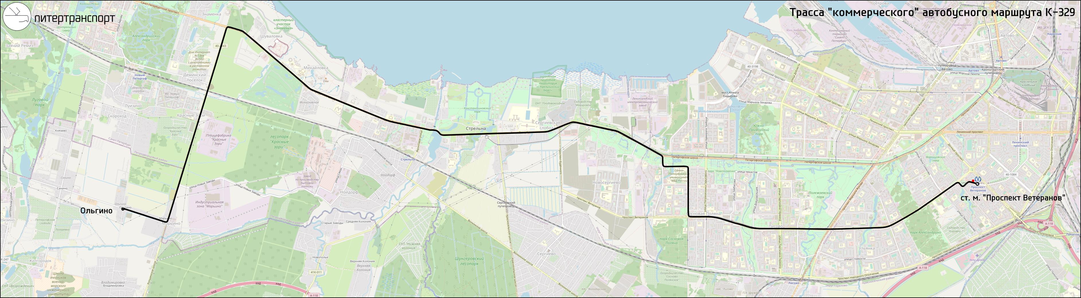 Схема проезда ольгино