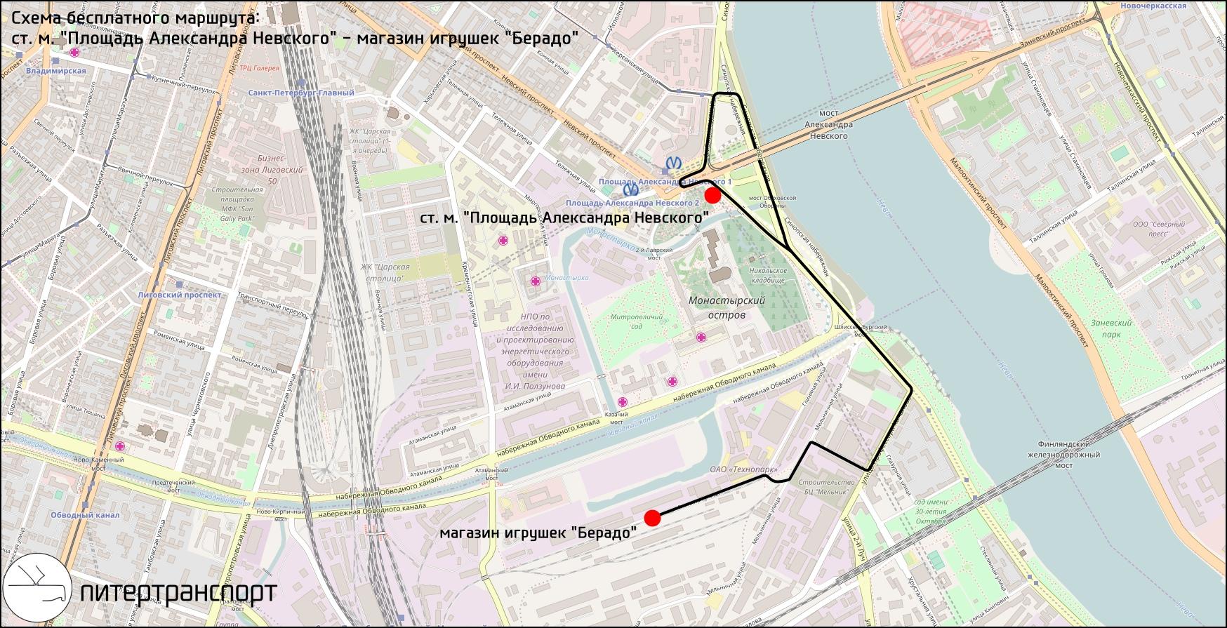 маршрутка гражданский проспект рыбацкое